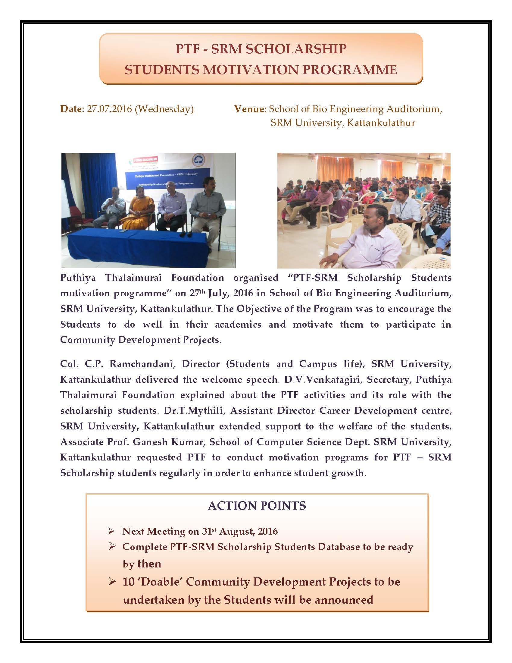 SRM Program - 27.7.2016 Report_Page_1