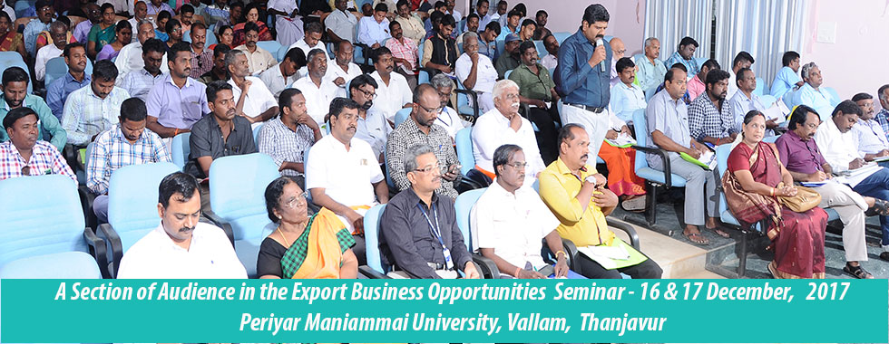 MICRO ENTREPRENEURSHIP AWARENESS SEMINAR - THANJAVUR
