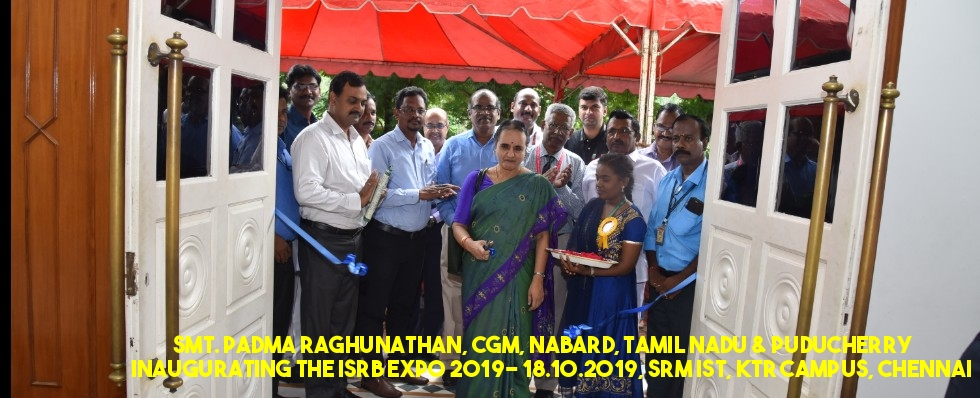 ISRB EXPO 2019, 18 & 19 October, 2019, SRM IST, Kattankulathur Campus