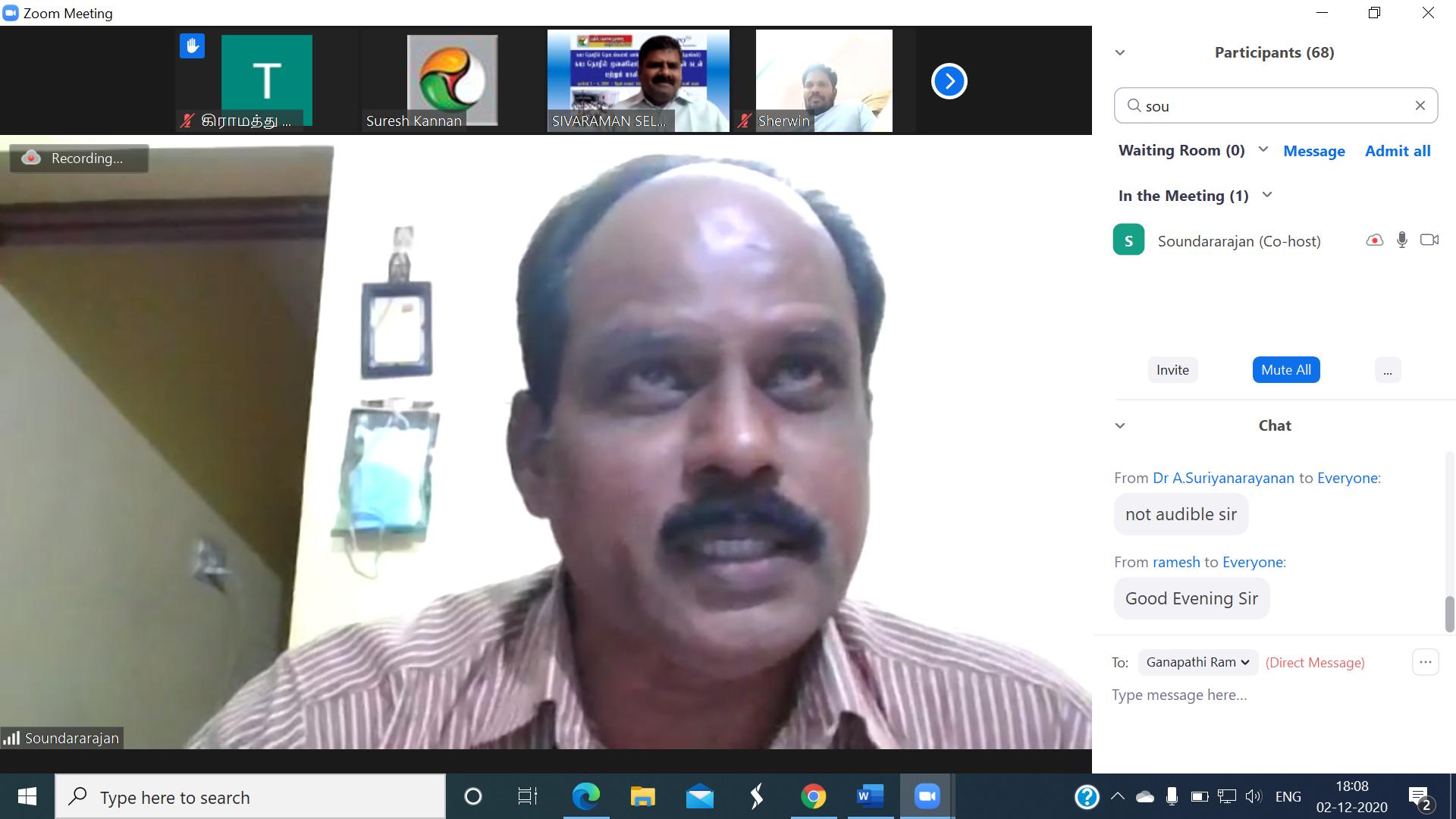Special Address by ISRB Expo Member P. Soundararajan,President, Algae Producers Assocation, Coimbatore